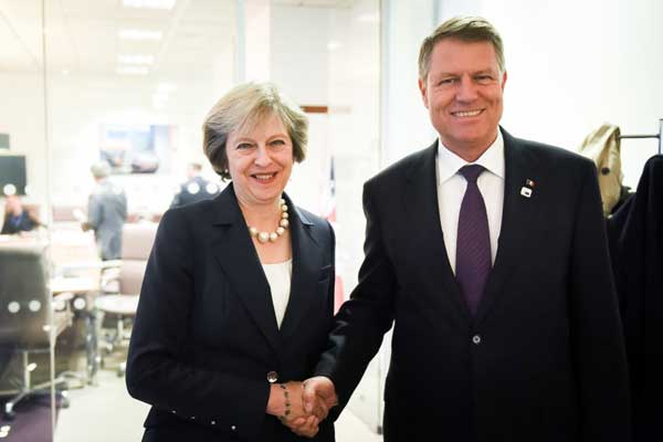 intalnire iohannis theresa may