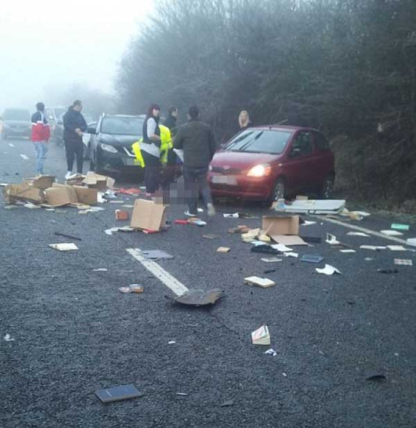 accident autostrada uk