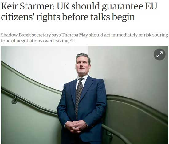 starmer garantare drepturi imigranti uk guardian