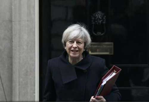 theresa may premier agerpres reut