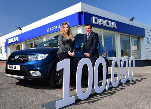 dacia record uk