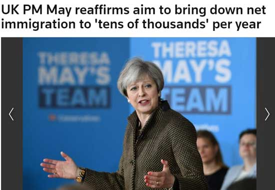 Reuters T.May imigratie uk