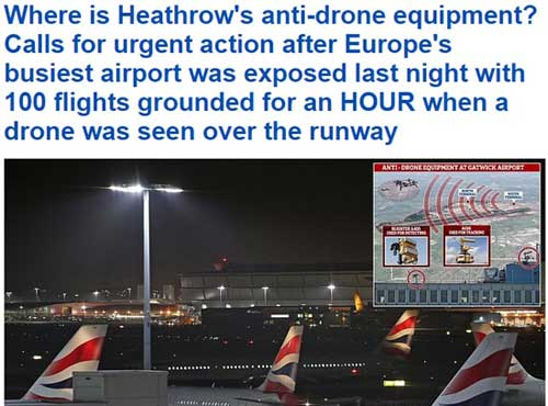 drone heathrow dailymail