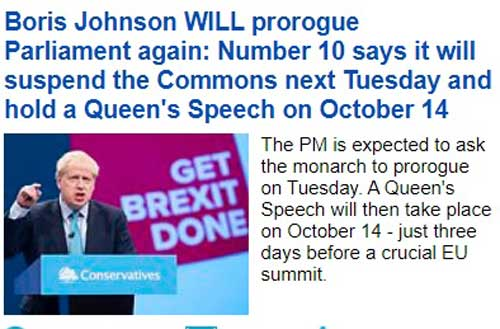 boris suspendare parlament dailymail