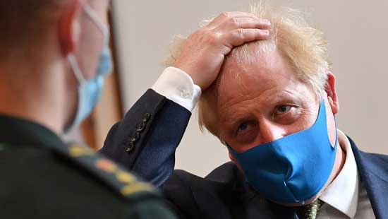 Boris Johnson in pandemie
