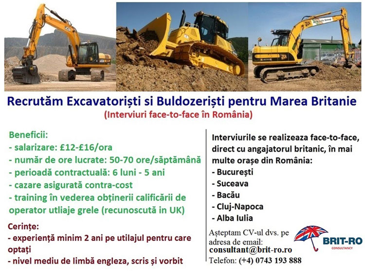 Brit ro excavatoristi uk